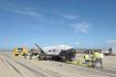 Přistání na vojenské letecké základně