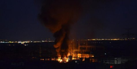 Požár trafostanice Kunratice