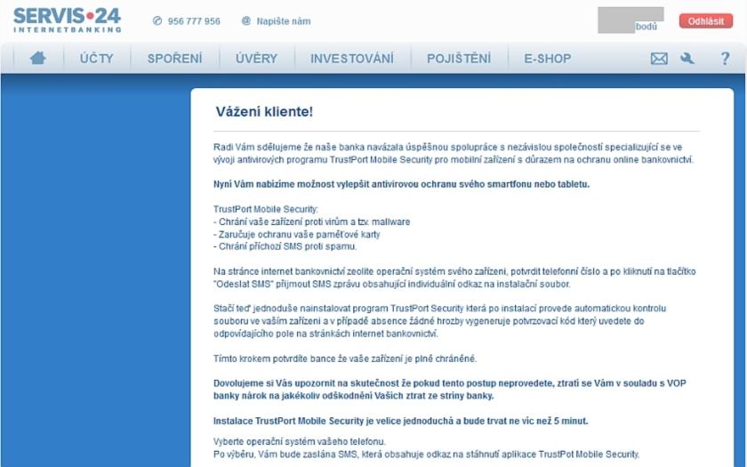 Česká spořitelna opět varuje před nebezpečným virem