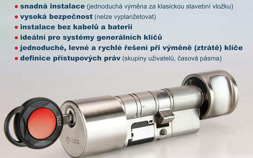 Elektromechanická vložka iLOQ - revoluční řešení bez nutnosti elektrického napájení