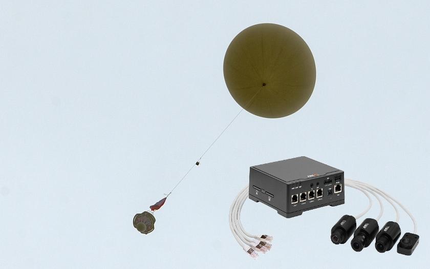 Stratocaching - kamera AXIS F44 zaznamenala výstup balónu do stratosféry