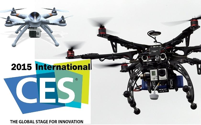 Drony a roboty zaútočí v lednu na veletrhu CES 2015. Jsme připraveni na ztrátu soukromí?