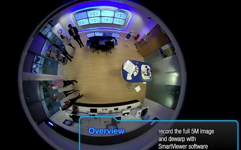 Dálkově ovládaná HD kamera 360° od Samsungu s inteligentní video analýzou