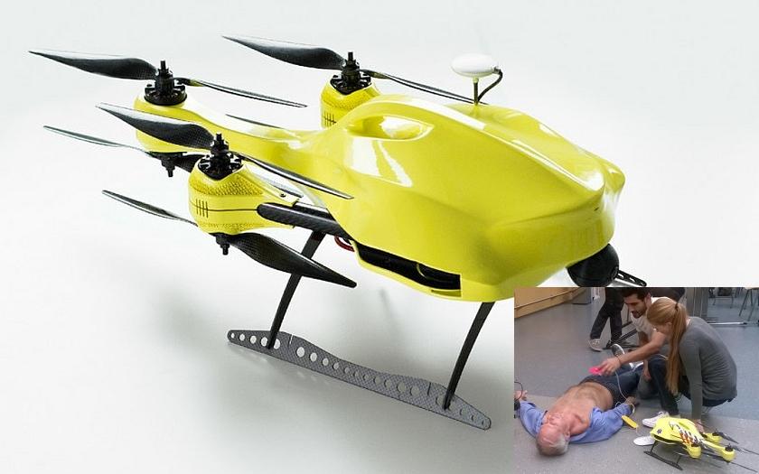 První pomoc ze vzduchu? Budou nás zachraňovat drony?