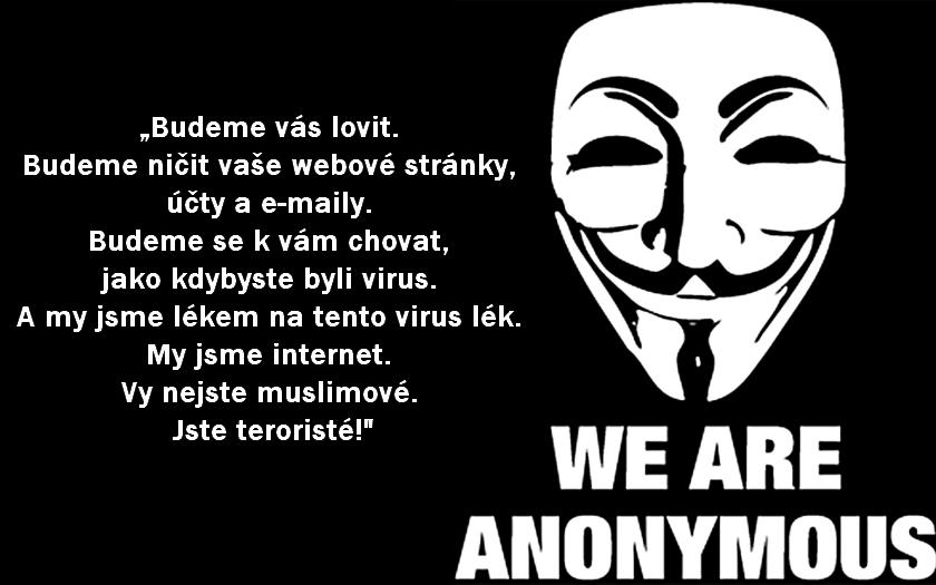 Válka hackerů - Anonymous bojují proti islámistům. A mají úspěch.