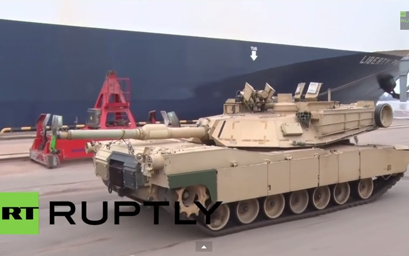 Americké tanky Abrams dorazily do Lotyšska