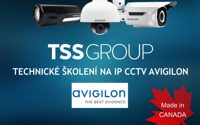 POZVÁNKA TSS Group na TECHNICKÉ ŠKOLENÍ NA IP CCTV AVIGILON