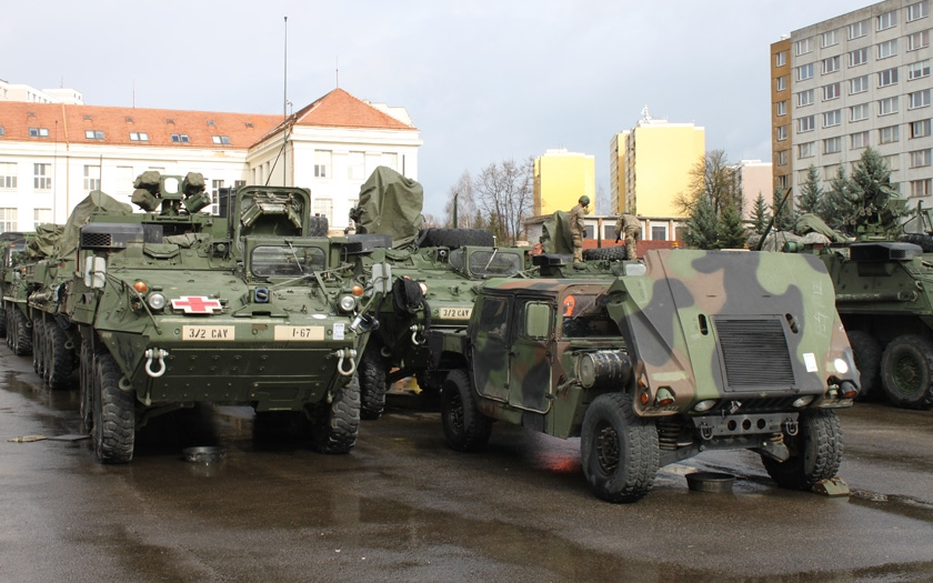 Českem projede konvoj amerických a britských vojáků