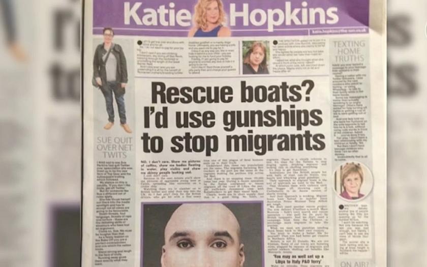 &quote;Záchranné čluny? Na uprchlíky bych poslala bitevní lodě&quote;. Publicistka naštvala Brity