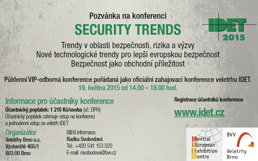 Pozvánka na konferenci SECURITY TRENDS