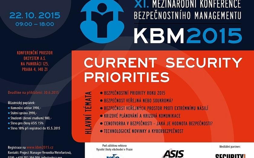 Mezinárodní konference bezpečnostního managementu KBM 2015
