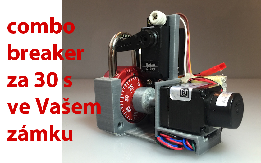 Robot vytištěný 3D tiskárnou za 30 vteřin zlomí kombinaci zámku