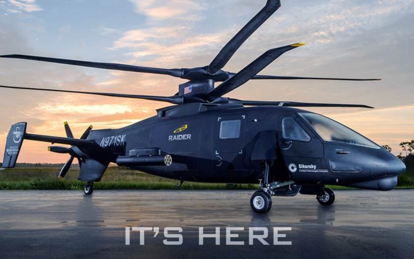 Hybridní vrtulník Sikorsky S-97 Raider - extrémně rychlý stroj pro bitevní i záchranné operace
