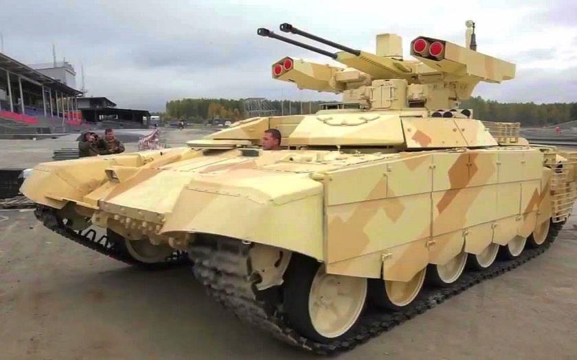 Ruská armáda již získala vozidla Terminátor 2 pro podporu tanků