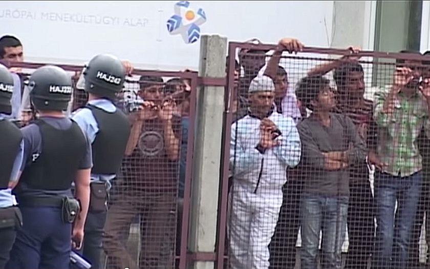 """V Maďarsku uprchlíci volali """"Allah Akbar!"""" a napadali projíždějící auta."""
