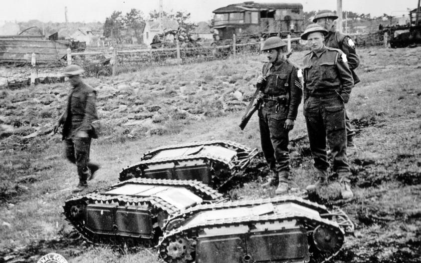 Dálkově ovládaný robotický tank Goliáš byl už v roce 1942 v nacistickém Německu