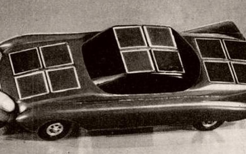 První vůz poháněný solární energií pochází z roku 1955