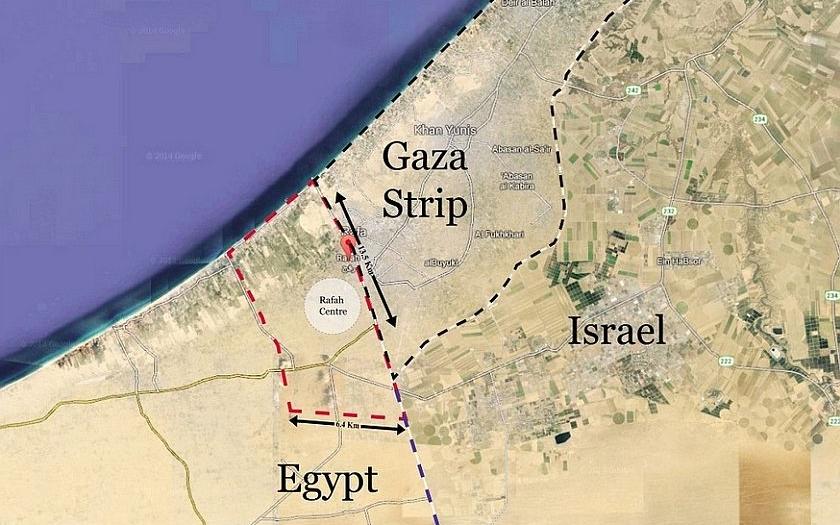 Egypt buduje kolem Gazy vodní příkop. Kvůli islámským radikálům.