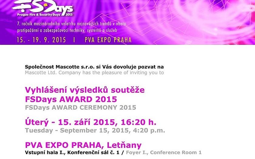 Vyhlášení výsledků soutěže FSDays AWARD 2015