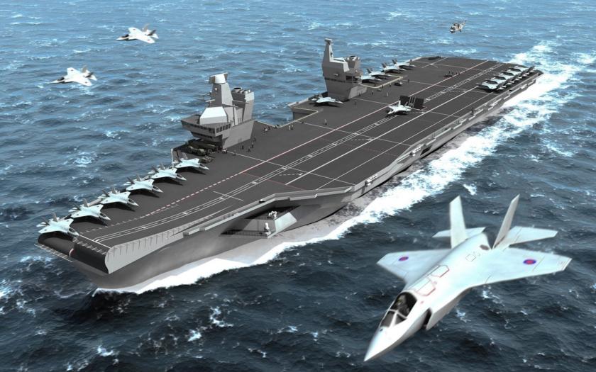 Británie staví dvě obří letadlové lodě