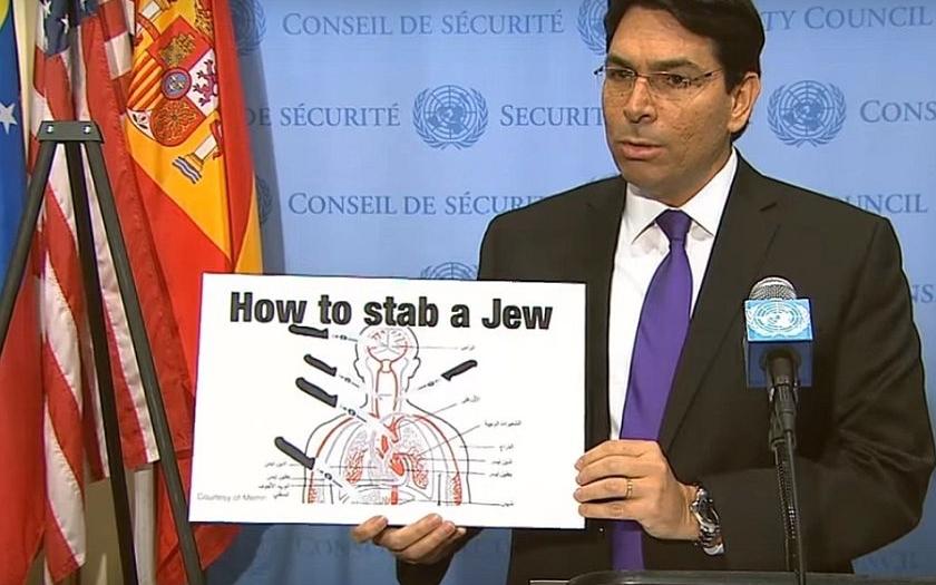 Palestinský návod &quote;Jak pobodat Žida&quote; zveřejněn v Radě bezpečnosti OSN