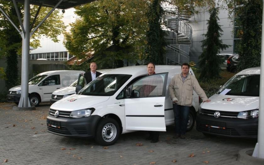 Dvacet nových bezpečnostních vozidel VW Caddy pro G4S Cash Solutions
