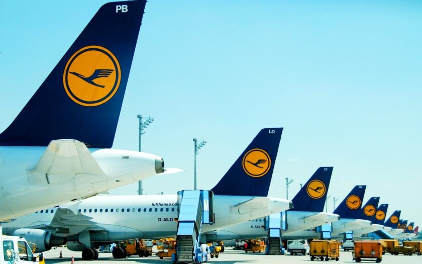 Lufthansa dnes zrušila 929 letů, postiženo je přes 113 tisíc cestujících.