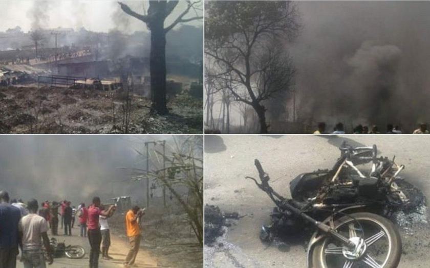 Sto mrtvých při výbuchu plynové cisterny v Nigérii