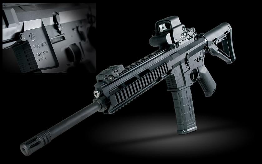 Česká taktická puška PAR Mk3 - obdoba americké AR-15 pro křesťanské křižáky