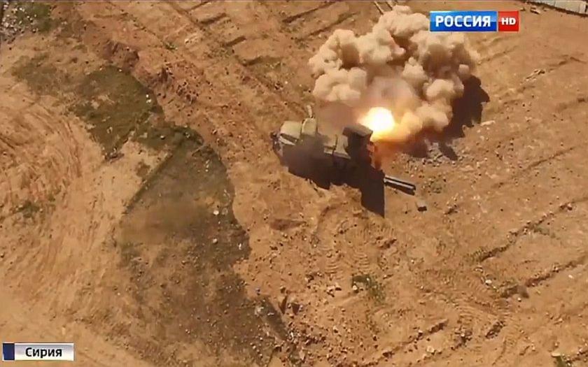 Ruské raketomety proti islámistům v syrském Rakka