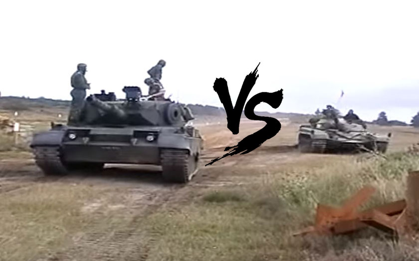 Video: Drag race Leopard 1 vs T-72
