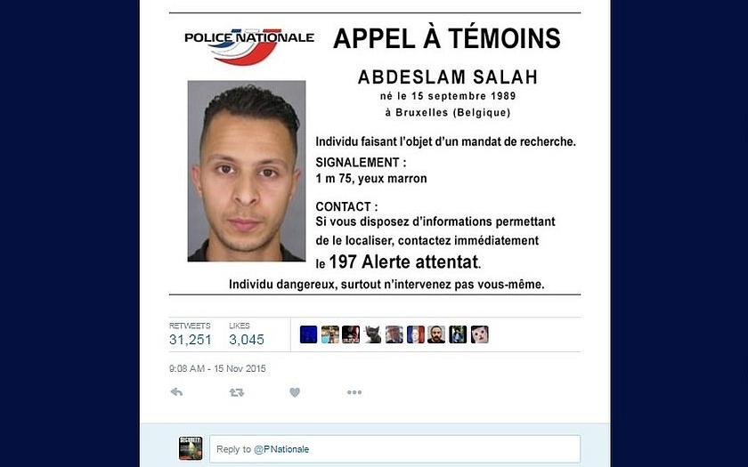 Terorista Salah Abdeslam má pro policii &quote;cenu zlata&quote;