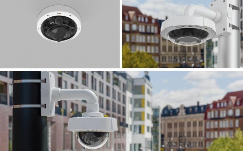 Panoramatické kamery AXIS pro monitorování velkých otevřených ploch - letišť, nádraží nebo náměstí
