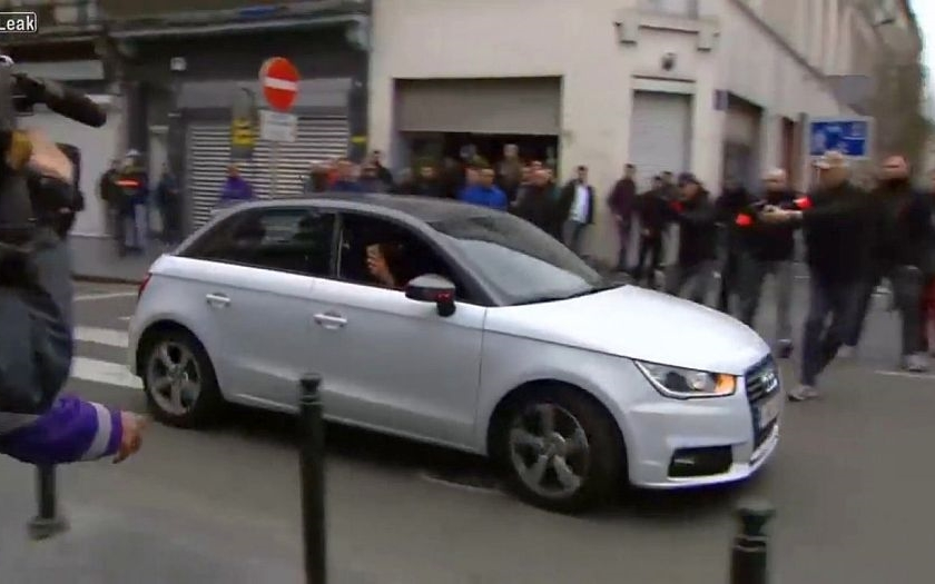 Protiislámské protesty v bruselském Molenbeeku