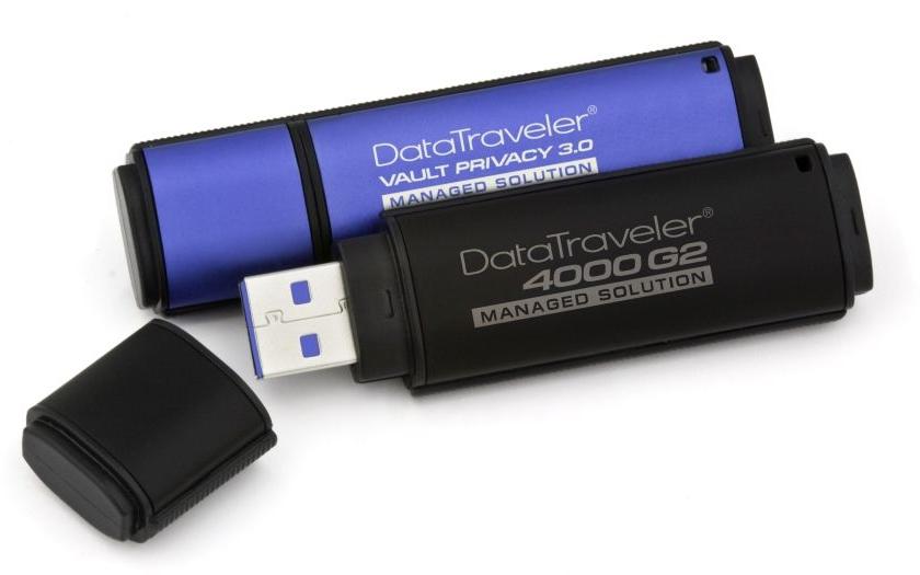 USB flash disky s hardwarovým šifrováním umožňující vzdálenou správu