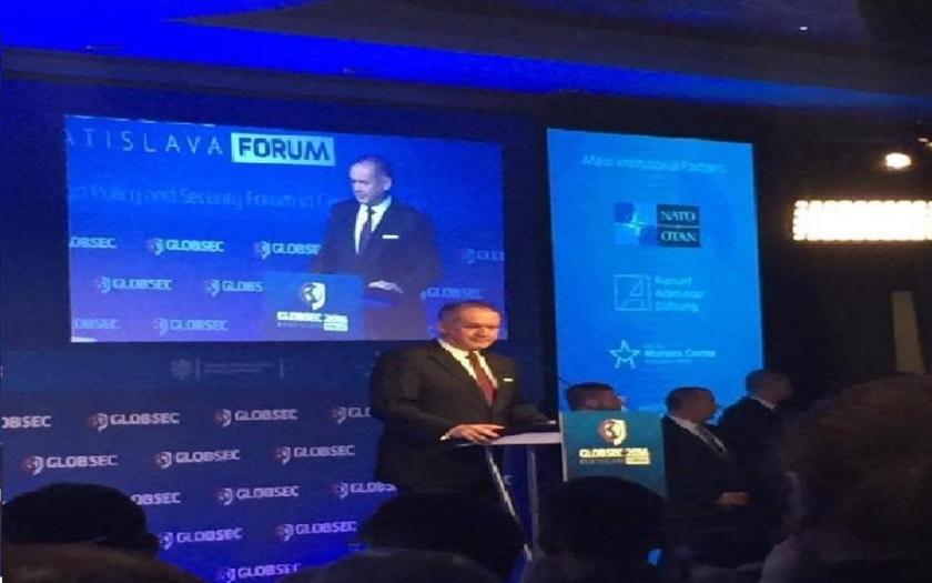 Andrej Kiska sa vyjadril o extremizme, terorizme, NATO, počas medzinárodnej konferencií Globsec v Bratislave.