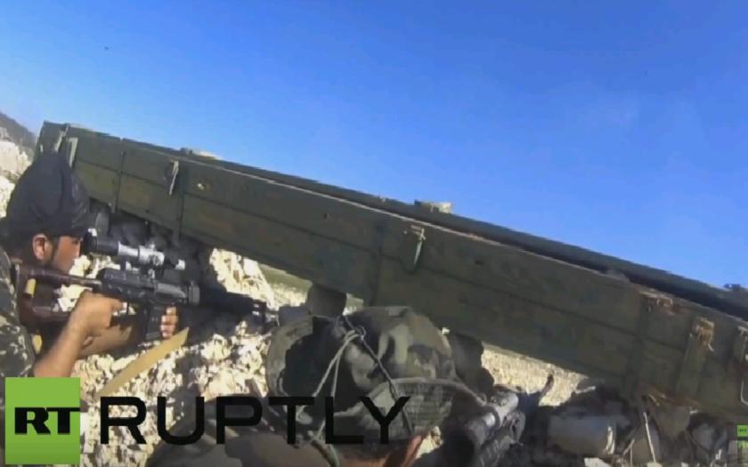 Zábery priamo z frontu zo Sýrie, natočené pomocou kamery GoPro