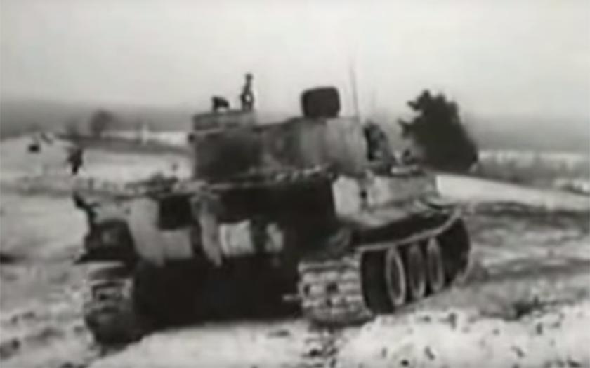 Unikátní záběry německého Tigra na východní frontě