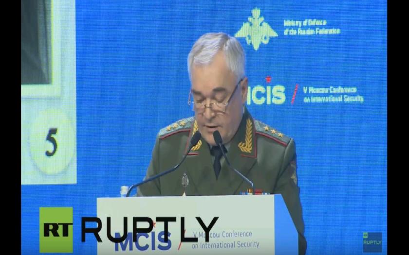 Makarov ostro kritizoval  Európsku úniu, USA a NATO a ich vplyv na medzinárodnú bezpečnosť, počas konfrencie v Moskve.