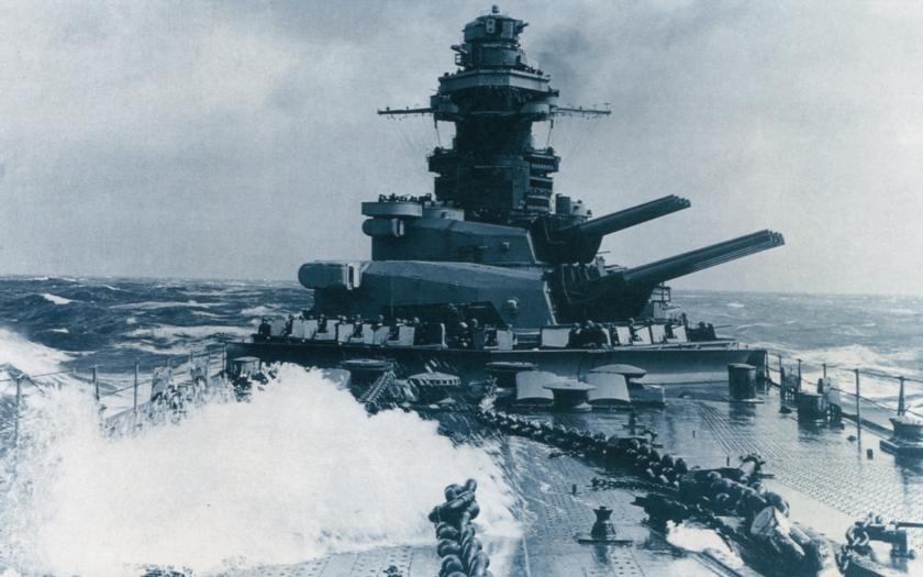 Bitevní loď Richelieu  - největší a nejsilnější loď francouzského námořnictva