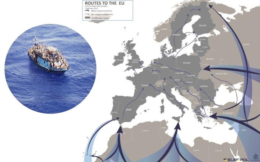 Europol: Pašeráci loni dostali do Evropy 90 procent migrantů. Letos má být ještě hůř