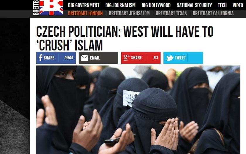 """Seminář """"Máme se bát islámu?"""" má pokračování. Kláru Samkovou citují za mořem"""