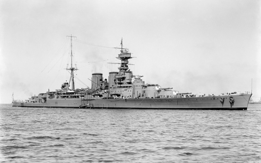 Unikátní barevné filmové záběry pýchy Royal Navy - bitevního křižníku HMS Hood