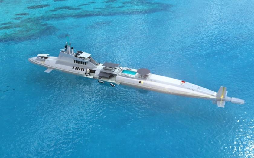 Unaveni vlastní jachtou? Tato ponorka nabízí bar i knihovnu