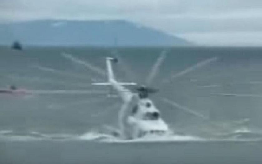 Video: Nepovedený vzlet ruského vrtulníku Mi-8 z vody