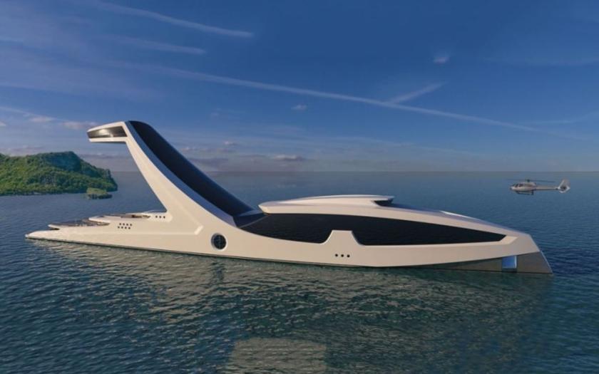 Italská jachta má bazén 37 metrů nad hladinou