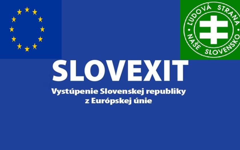 Podpredseda ĽS Naše Slovensko - Milan Uhrík: ,,Vystúpenie z EÚ – nová vízia pre Slovensko''