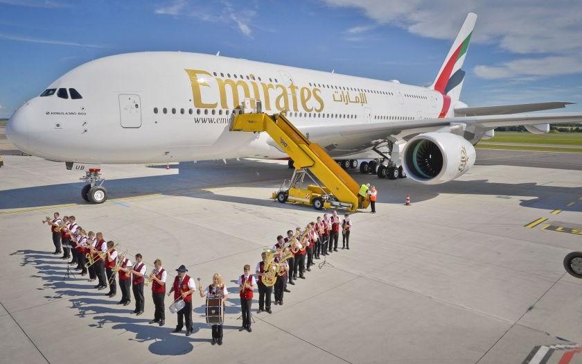 Osmdesátý Airbus A380 s logem Emirates dosedl na vídeňské letiště