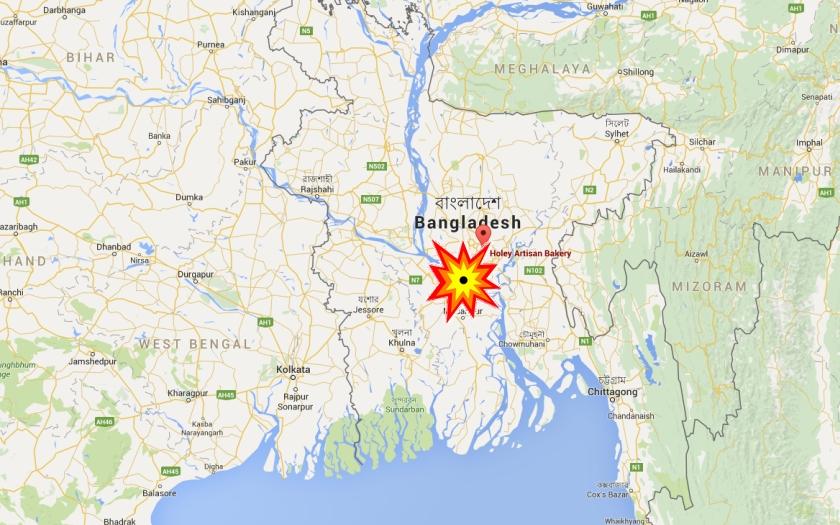 Islámisté zaútočili v diplomatické čtvrti bangladéšské Dháky