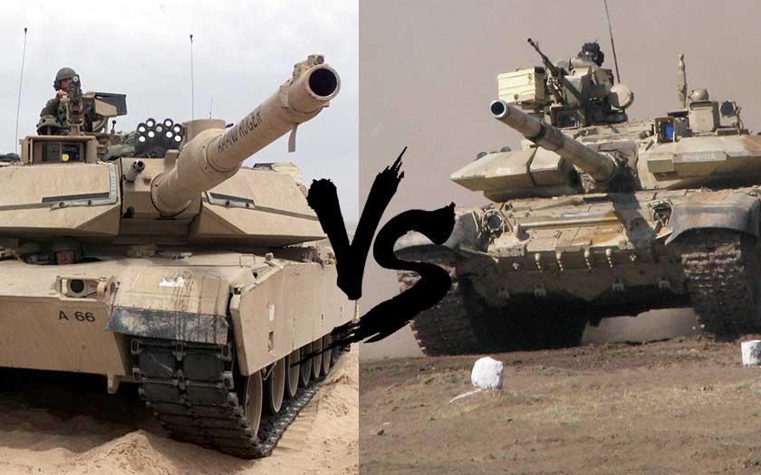Video: Zápas tanků Abrams a T-90 s bahnem